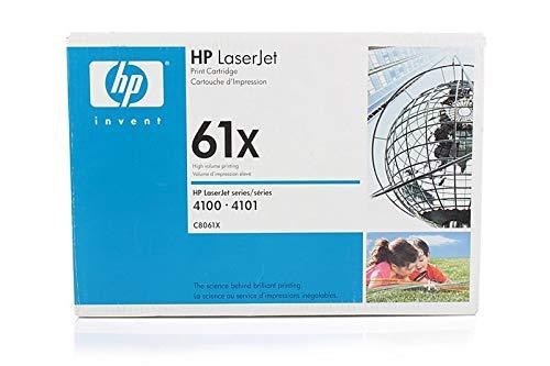 HP C8061X / 61X - Cartucho de tinta original para impresora 4100 EX MICR Secure Premium, negro, 10000 páginas