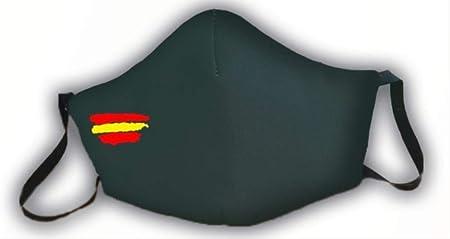 Mascarilla verde protectora homologada bandera de España 3 capas: Amazon.es: Salud y cuidado personal
