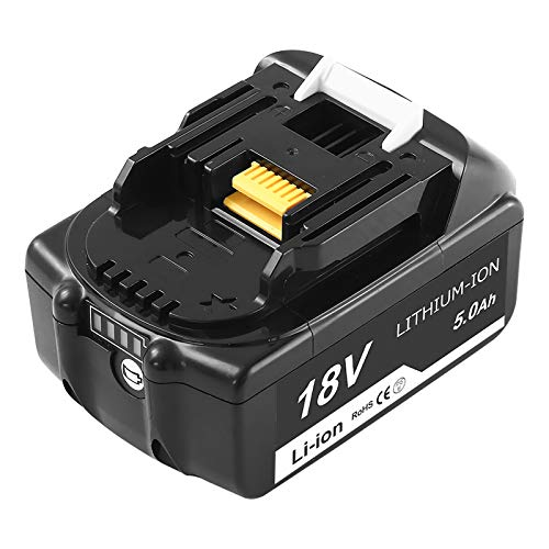 5.0Ah Lithium-ion BL1850B Replacement for Makita 18V Battery Compatible with Makita 18 Volt LXT Battery BL1815 BL1830 BL1830B BL1835 BL1840 BL1850 BL1860 BL1860B