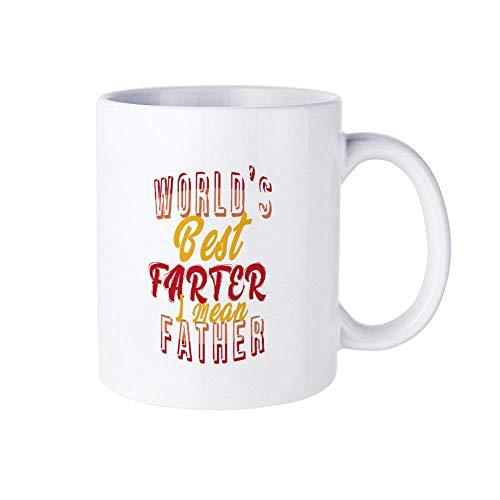 N\A Divertido café Taza de cerámica Té Taza Blanca Papá Clipart papá c8 Regalo del día del Padre Mejor Regalo para papá Taza Personalizada + Caja