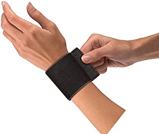 Mueller Wrist Support with Loop, Black, One Size Fits Most