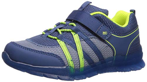 Mid-Tier Boys' Stride Rite Rocky Girl's Washable Light-Up Sneaker, Navy, 12 M US Little Kid