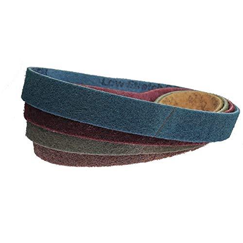 Schleifband 4pcs / Schleifbänder/40 * 740mm Vlies Nylonmühle Schleifbänder/dick bis fein für Bandschleifer (Grit : Brown P150, Size : 740x40mm)