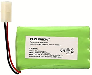 FLOUREON 9.6V 1800mAh NI-MH 2X4AA Cell Battery Group with Tamiya Plug for RC Car Truck RC Hobby Lighting Gadgets Shavers Power Tools Vacuum Cleaner Safety Security Facilities (1Pack)