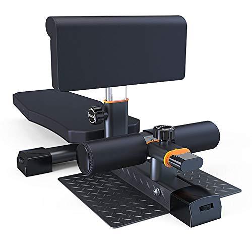 Outdoor Life Banco de fitness ajustable en altura, multifuncional portátil para sentadillas, tabla de ejercicios plegable, tabla de sentarse, color negro
