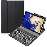 Galaxy Tab A 10.1 2019 Keyboard Case T510 T515, Backlights Slim Shell Lightweight Magnetic Detachable Wireless Backlit Keyboard Cover for Samsung Galaxy Tab A 10.1 Inch SM-T510 SM-T515 2019 - Black