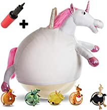 WALIKI Horse Hopper Ball for Kids | Hippity Hop | Jumping Hopping Ball | Sit & Bounce (Small: Ages 3-5, Unicorn)