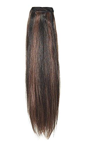 American Dream original de qualité 100% cheveux humains 35,6 cm soyeuse droite trame Couleur 1B/33 – Noir Nature/Cuivre Riche