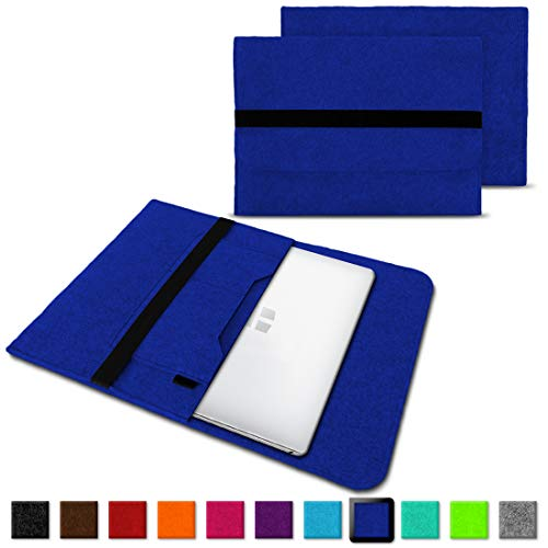 NAUC Laptoptasche Sleeve Schutztasche Hülle für Trekstor Surfbook W1 W2 Netbook Ultrabook 14,1 Zoll Laptop Filz Case, Farben:Blau