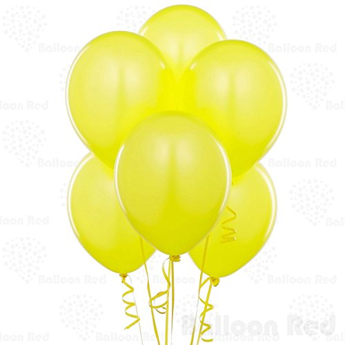 Amber Yellow 10 Inch Thickened Latex Balloons, Pack of 72, Premium Helium Quality for Wedding Bridal Baby Shower Birthday Party Decorations Supplies Ballon Baloon Thinken