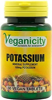Veganicity Potassium 100mg : Bone & Joint Health Supplement : 30 tablets by Health + Plus Ltd