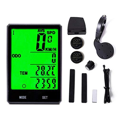 BICBLL Ciclocomputador inalámbrico con 22 funciones, tacómetro, pantalla LCD, velocímetro para bicicleta, resistente al agua IP67