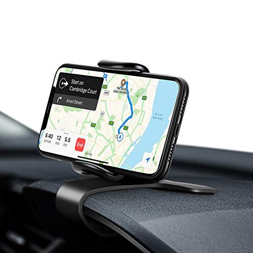 Eono Amazon Brand Soporte Móvil Coche para Salpicadero, HUD Sujeta Telefono con Rotación Flexible de 360°, Compatible para GPS, iPhone, Samsung, Huawei y Dispositivos Electrónicos Entre 4' a 7'