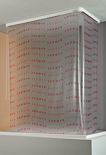 ECO-DuR 4024879005856 Kassetten ECK Duschrollo 137 x 62 cm weiß - Shower magenta