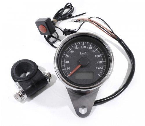 LCD Mini Tachometer elektronisch schwarz 60mm für Harley Davidson