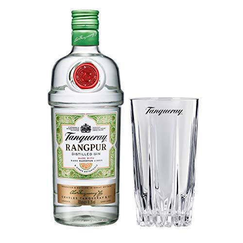 Tanqueray Rangpur Set mir Bar Glas, Destillierter Gin, Alkohol, Flasche, 41.3%, 700 ml