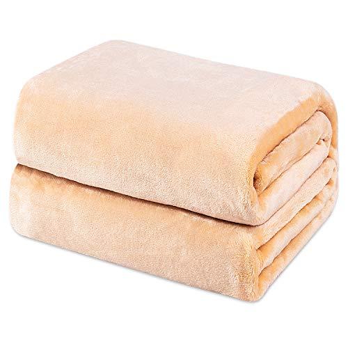 Möge Kuscheldecke Khaki 130x150cm Flauschige Decke Sofa, weiche& warme Fleecedecke als Sofadecke/Couchdecke, Kuschel Wohndecken Kuscheldecken, Plüschdecke oder Wohnzimmerdecke