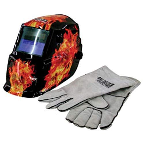Lincoln Electric Auto-Darkening Welding Helmet with Gloves - Darkfire, Model Number K2799-1
