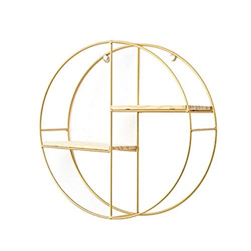 ypypiaol Accessorio dello Scaffale di Esposizione del Vaso di Fiore delle Figurine del Libro di Figurine del Libro di Legno dello Scaffale di Stoccaggio del Metallo d'oro Il Giro