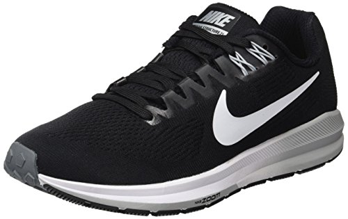 Nike W Zoom Structure 21, Zapatillas de Entrenamiento para Mujer, Negro (Black/White-Wolf Cool Grey 001), 40.5 EU