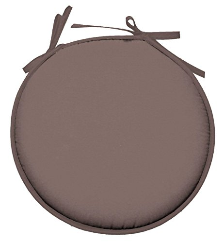 Lovely Casa CU4689003GAL-R Nelson Galette Ronde Polyester Taupe 40 x 40 cm