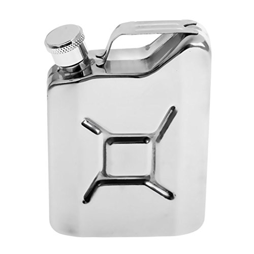 Perfeclanスキットルポケットヒップフラスコステンレス製6oz大容量177ml錆びないアウトドアキャンプボトル携帯用超軽便利シルバー