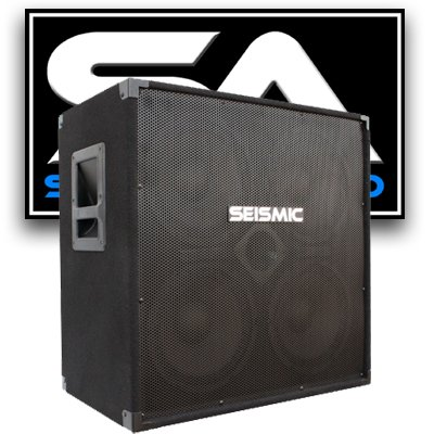 Seismic Audio - 410 Bass Guitar Speaker Cabinet with Horn PA DJ 400 Watts 4x10 4 10