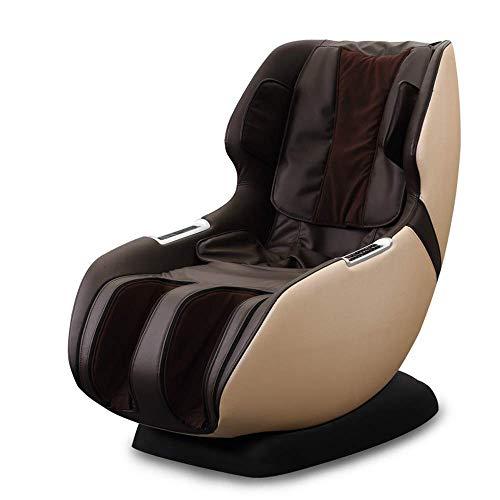 Multifunktions-Elektro-4D Ganzkörpermassagestuhl - Rollen Vibration, magnetische, pneumatische und 4D Massagesessel sparen Platz for Heim und Büro QIANGQIANG (Color : Coffee Color)