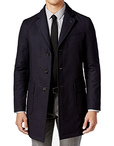 Sanyo Mens Chesterfield Pea Coat, Blue, X-Large