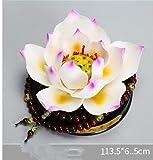 TUDUDU Automobile Décoration en Céramique Lotus Lotus Centre Console Creative Voiture Décoration Fournitures Voiture dans La Voiture Bijoux Décoration Femme