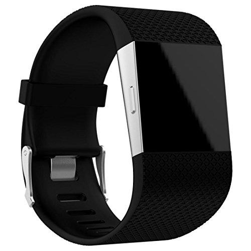 Fitbit Surge Armband, SHOBDW Ersatz-Armband-Band-Armband-Verschluss-Wölbungs-Werkzeug-Installationssatz für Fitbit Surge (Schwarz, 160-220MM)