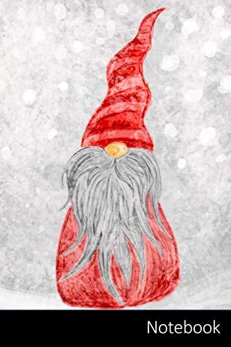 Notebook: Duende, Navidad, Santa, Nieve Cuaderno / Diario / Libro de escritura / Notas - 6 x 9 pulgadas (15.24 x 22.86 cm), 150 páginas, superficie brillante.