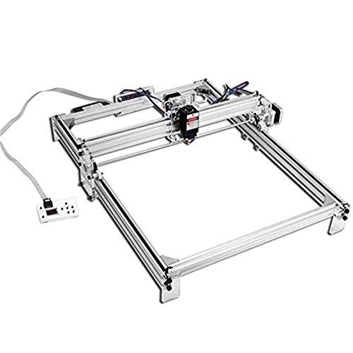 TOPQSC Carving Machine DIY Kit, CNC Laser Engraver Desktop 12 V USB incisione laser Carver, 50X40CM Stampante laser regolabile Carving & Cutting Carta in plastica leggera, 2 assi (50x40cm / 7000mW)