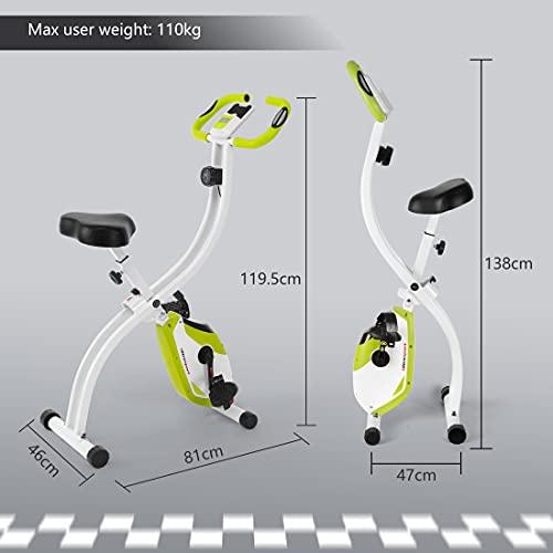 Ultrasport Heimtrainer F-Bike 150/200B mit Handpuls-Sensoren, mit/ohne Rückenlehne, faltbar - 2