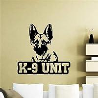 Hhkkck ウォールステッカー犬警察動物ペットポスタービニールステッカーライフティーンチャイルドチャイルド装飾48×50センチ