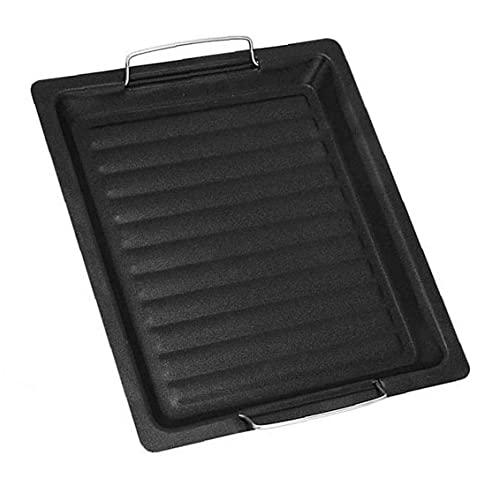 Långpanna Barbecue Plate med handtag Non Stick Roast Vegetabiliska Grill Pan Black, utegrill Supplies