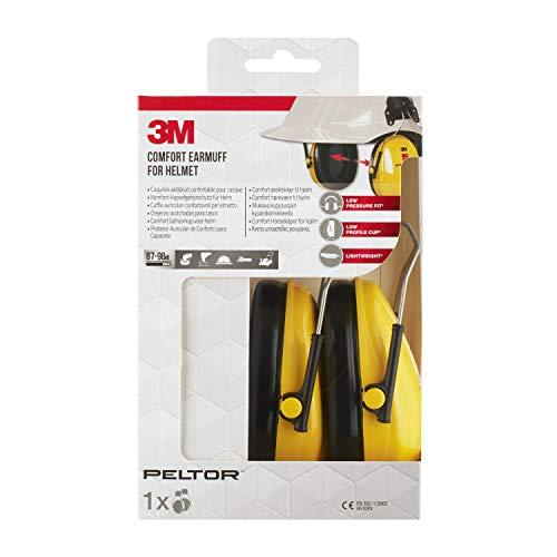 3M Peltor H510P3EC1 Comfort-gehoorbescherming voor helm, geel