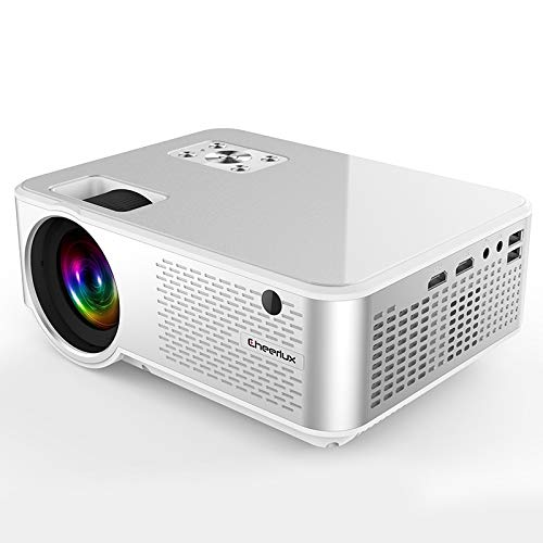 KINGONE Ruijuxin Support HDMI x 2 / USB x 2 / VGA/AV(Black), Lumens 1280x720 720P HD Android Impudent Projector (Color : White) Indiana
