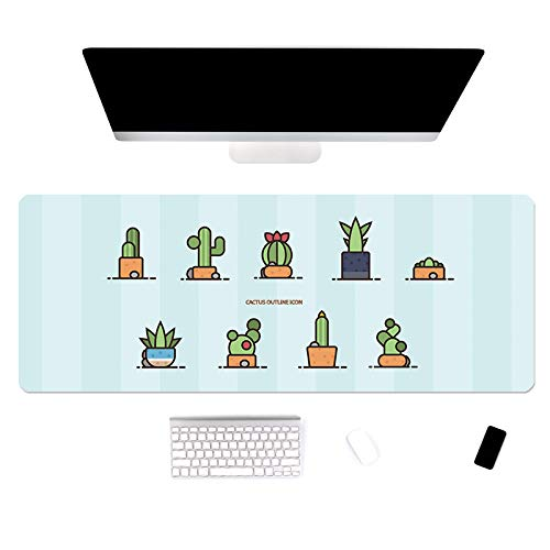 Oversized muis-pad cartoon kantoor notebook toetsenbord pad thuis lief meisje vergrendeling bijzettafel mat 900x400mm-3mm Tuin.
