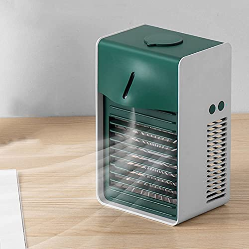 QAWSED mini air cooler Gfryy Portable Mobile Air Conditioner, 3 In 1 Air Cooler - Humidifier/Purifier, Negative Ion, Personal Usb Desktop Fan With 3 Speed, For Home And Office