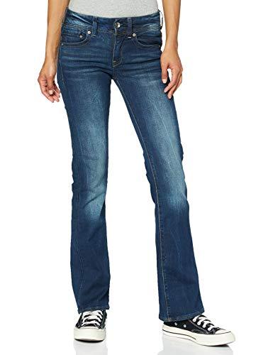 G-STAR RAW Damen Jeans Midge Saddle Mid Waist Bootcut, Blau (Dk Aged 6553-89), 32W / 30L