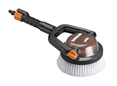 WORX Bristles, Quick Snap Connection WA1820 Hydroshot Adjustable Automotive Power Scrubber (Soft Brist, Black