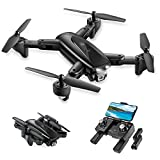 UranHub Foldable GPS Drone with 2K UHD Camera FPV Live Video for Beginners, RC Quadcopter with GPS Return Home, Follow Me, Gesture Control, Point of Interest, Waypoints, Auto Return