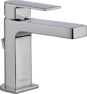 Peerless Xander Single Hole Bathroom Faucet, Single Handle Bathroom Faucet Chrome, Bathroom Sink Faucet, Drain Assembly, Chrome P1519LF