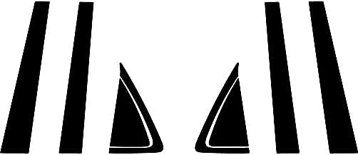 Rvinyl Rtrim Pillar Post Decal Trim for Buick Rendezvous 2002-2007 - Gloss (Black)