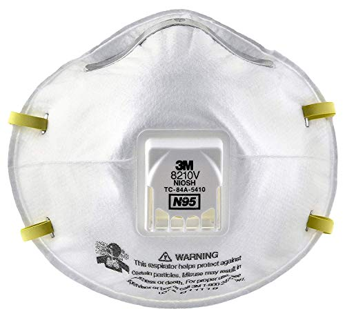 Visit the 3M 8210V Particulate Respirator - 10 Box on Amazon.