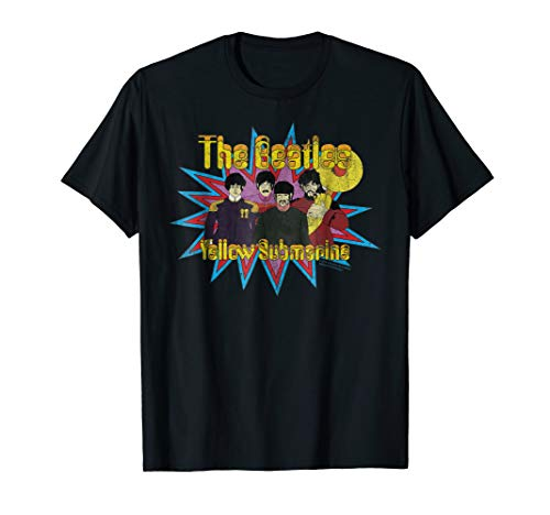 The Beatles Yellow Submarine Bursting Beatles T-shirt