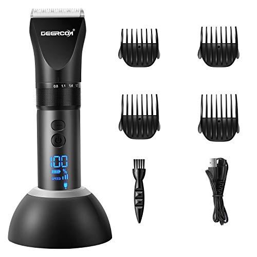 DEERCON Haarschneider Für Männer, Professioneller Haarschneider Elektrischer Haarschneider Für Männer Haarschneider Präzisionsschneider Mit Adapter Und Ladestation