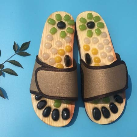 Read About DORLIONA Slipper Massage Pebble Stone Reflexology Massage Feet Acupuncture Health Shoes S...