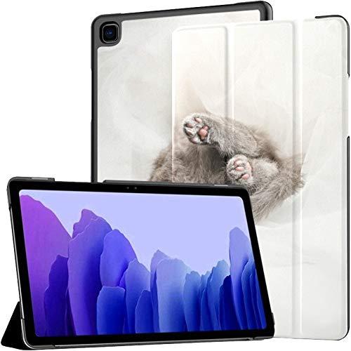 Funda de piel sintética para Samsung Galaxy Tab A7 de 10,4 pulgadas de 2020, diseño de gato escocés, color azul